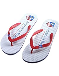 Andinas Atlético Madrid - Chanclas unisex, color rojo / blanco, talla 42