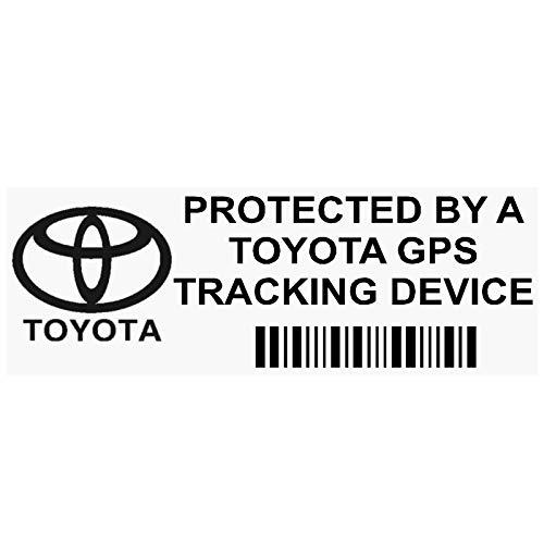 Platinum Place Fensteraufkleber, PPTOYOTAGPSBL GPS, Schwarz, mit Schriftzug in englischer Sprache, Tracking-Device Security, Alarm-Tracker, für Auto/Lieferwagen, 87 x 30 mm, 5Stück Platinum Gps