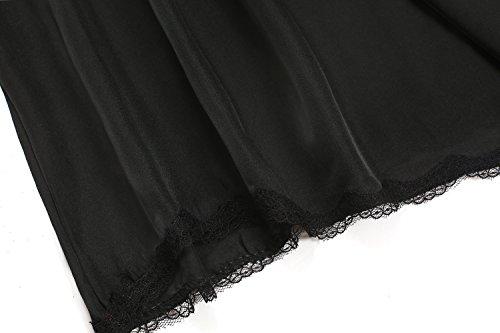 Aimado Damen Petticoat Unterrock brock lang Unterkleid rutschfest Unterrock Bund Schwarz