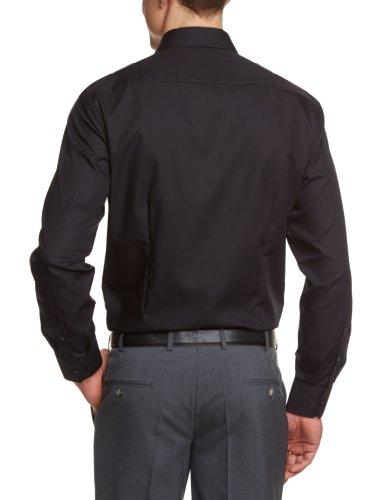 Venti Herren Businesshemd Slim Fit 001480/80 Schwarz (80 schwarz)