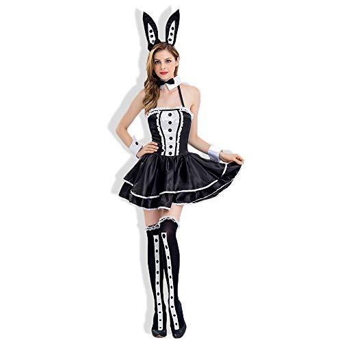 Outfit Kostüm Rabbit - HJG Bunny Kostüm Rollenspiel Dessous Set für Frauen für Sex, French Maid Kostüm und Kellner Cosplay, Rabbit Outfit,XL