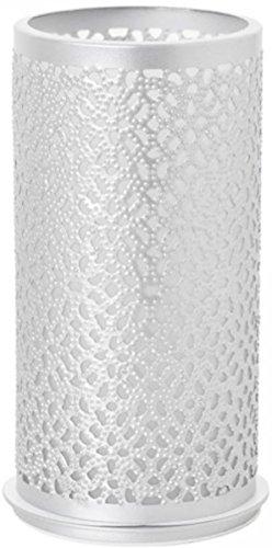 Duni Metallkerzenhalter Blliss Silber 140x75 mm für Stumpenkerzen oder LED`s Multicolour von Duni
