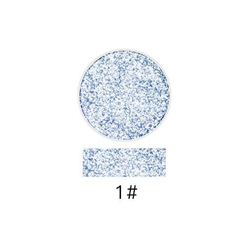 Flüssiger Lidschatten Professioneller SOMESUN Lash Shining Glitter Highlight Diamant Lippenpuder Lidschatten Gepresst Pulver (#1)