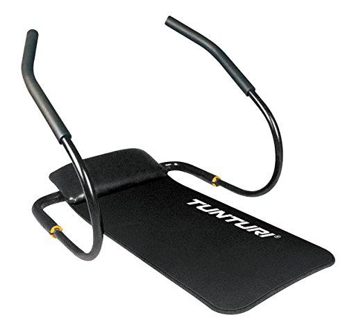 Tunturi-Fitness Ab Shaper Pro Aparato Abdominales Plegable con Esterilla, Unisex adulto, Negro, Única