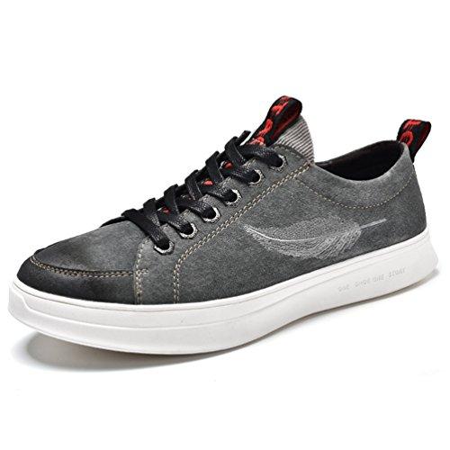 XIGUAFR Hommes Chaussures de Ville à Lacets en Cuir Souple Lok Fu Chaussure Casual Comfortable