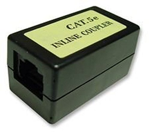 Cat5 schermato connettore modulare / RJ45 modulare Inline Accoppiatore / Cat5-Cat6 / Ethernet via cavo Extender / femmina a femmina / Nero