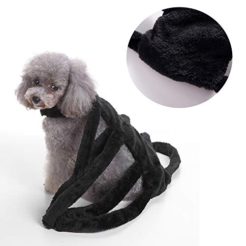 JLCYYSS Pet Halloween Kostüm Outfit Kleidung Hund Katze Spuk Kostüm Geschenk Party Neuheit Spider Design Kleidung,M