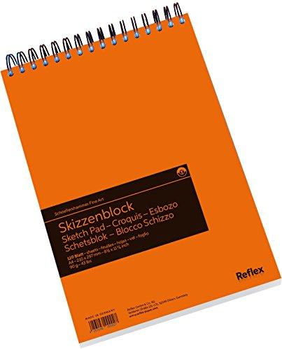 Schoellershammer VF5003610 Skizzenpapier A4, Spiralblock, 120 Blatt, 90 g/qm weiß gekörnt