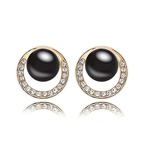 Mkxiaowei Pearl Earring Alliage Boucles d'Oreilles Perle Lady Accessoires Fille Mère Cadeau de Vacances
