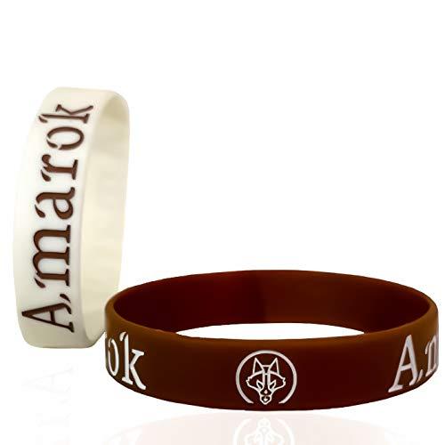 AMAROK Armband Alpha-Wolf für Damen & Herren Silikonarmband | Fitness-Armband | Kampfsport-Armband | Echte Motivation (2 Stück) - Silikon-armband-nike