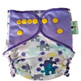 Allboutbaby Reusable All In One (Aio) Cloth Diaper For Heavy Absorbency With Organic And Stay Dry Insert - Play Me