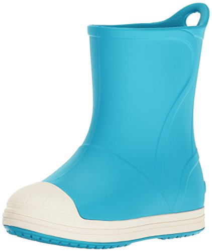 crocs Unisex-Kinder Bumpitbootk Gummistiefel, Blau (Electric Blue/Oyster), 24-25 EU
