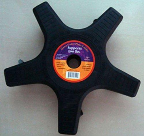 Weiva Profi Pflanzen Roller mit 250 KG Tragfähigkeit schwarz (50 cm)