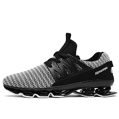 FUSHITON Running Shoes Men-Mens Trainers Cross Training Trail Sneakers Road Walking Shoe Sport Blade Breathable Size 8.5 - Trainer Cross Training Schuhe