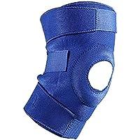 QQA Rodilla Compresión Open-Patella Estabilizador Dolor Artrítico Alivio Deportes Lesión Rehabilitación Protección contra 2 Piezas