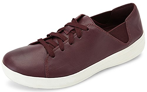 FitFlop F-Sporty Lace-Up Sneaker Shoes Deep Plum