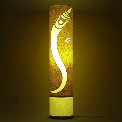 lord-ganesha-yellow-white-long-cylinderical-floor-lamp-living-dining-bedroom-night-light
