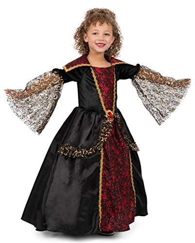 Horror-Shop Lady Versailles Vampiress Kinderkostüm für Halloween 6 Jahre (Vampir Von Versailles Kinder Kostüm)
