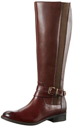 Clarks Damen Pita Vienna Langschaft Stiefel Braun (Mahogany Leather)