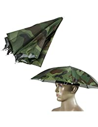 Umbrella Hat,55cm Sun Shade Camping Fishing Hiking Festivals Outdoor Brolly