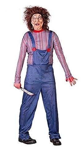 Chucky Mörderpuppe Herren-Kostüm Killer-Puppe Zombie Halloween Horror , Größe:M (Chucky Die Puppe Kostüm)