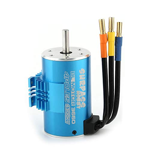 SURPASSHOBBY 3660 4300KV 3T 5mm Brushless Motor with Heat Sink for 1/8 RC Remote Control Car Parts Spare Parts Component
