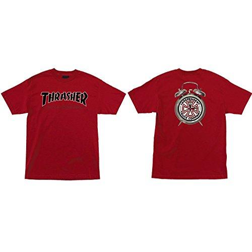 Independent skateboard shirt thrasher ttg cardinale rosso taglia s