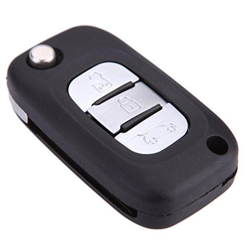 Preisvergleich Produktbild 3 Tasten Remote Flip klappbar Schluesselhuelle Schale Schluesseabdeckung fuer Renault Clio Megane Kangoo Modus