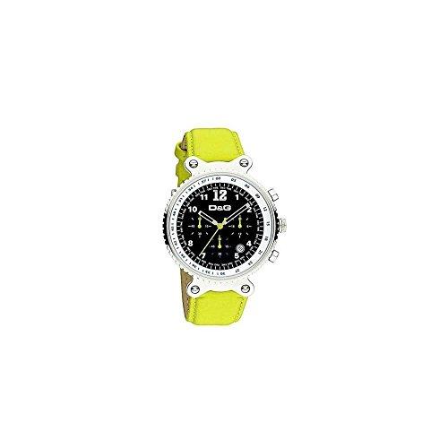 Dolce Gabbana - DW0307 - Montre Homme - Quartz - Chronographe - Bracelet Cuir Jaune