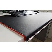 Schreibtischunterlage 42x29,5cm inkl Mousepad+Untersetzer aus recyceltem Leder
