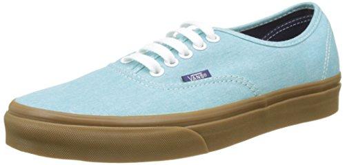 Vans Herren Ua Authentic Sneakers Blau (Washed Canvas)