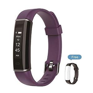 Kingsky Fitness Tracker-Smart Armband Activity Tracker Sport Schrittzähler mit Sleep-Monitor/Wecker/Schritt Tracker/Kalorienzähler für Android, iOS