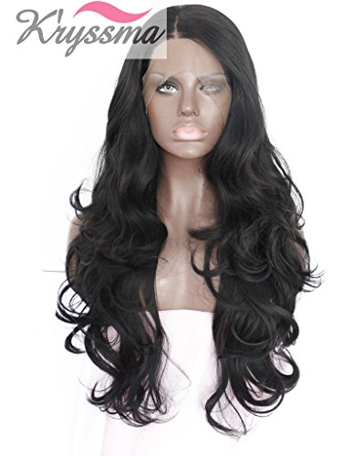kryssma-natural-looking-long-black-wavy-synthetic-hair-lace-front-wigs-for-women-side-part-heat-resi