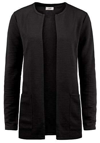 ONLY SWEA Damen Langer Cardigan Jacke Longjacke Mit Offenem V-Ausschnitt, Größe:M, Farbe:Black