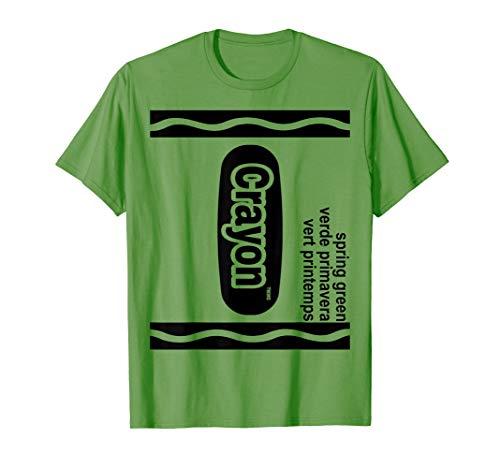 Frühlingsgrün Zeichenstift Kasten green Crayon Halloween T-Shirt