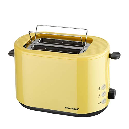 efbe-Schott SC TO 1080.1 GLB Design-Toaster mit klappbarem Brötchenaufsatz, Metall, Kunststoff, Gelb