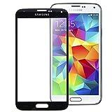 Ersatz Frontglas Austausch Front Glas Glass für Samsung Galaxy S5 i9600 Displayglas Screen + Werkzeug Schwarz