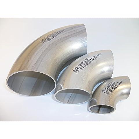 B & T metal Tubo de acero inoxidable Arco 90grados de diámetro 21,3hasta diámetro 88,9mm diferentes tamaños sudor arco Rodillera pieza 1.4307(V2A)