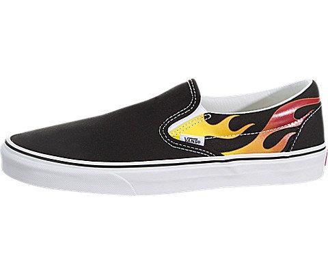 Vans Schuhe Classic Slip-On (Flame) Schwarz 42.5 - Schwarz Vans Schuhe On Slip