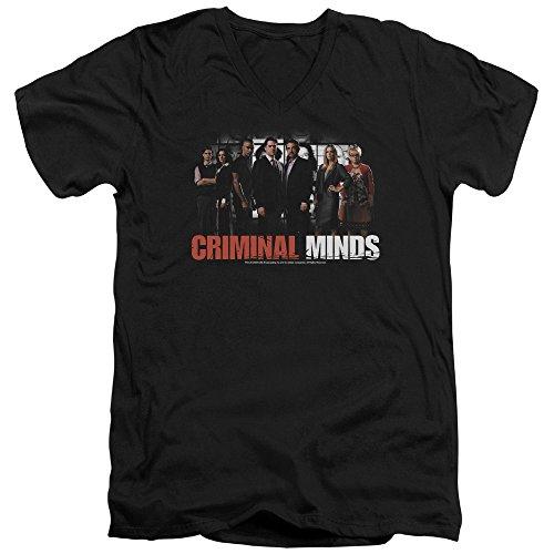 Criminal Minds TV Show CBS The Brain Trust Adult V-Neck T-Shirt Tee