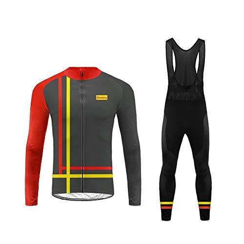 Uglyfrog 2018-2019 Cycling Kit Fleece Winter Fleece Neue Radsport Anzüge Herren Long Trikots + Lange Bib Hosen Gel Pad Spring Triathlon Clothes Reflektoren Full Zip