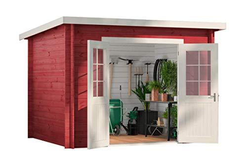 *CARLSSON Pultdach Gartenhaus Maria, 28 mm Wandstärke (300 x 250 cm)*