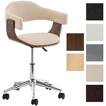 Bürostuhl design holz  CLP Design Bürostuhl BRÜGGE, mit Kunstleder-Bezug und Holzrahmen ...