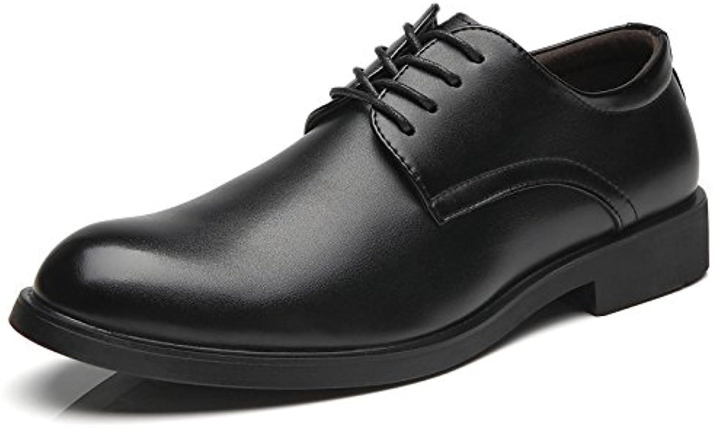 Zapatos De Cuero para Hombres Vestido De Negocios Zapatos Bajos Zapatos De Hombres -