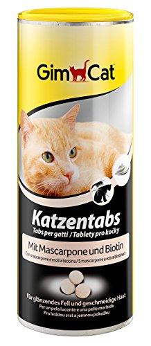katzeninfo24.de GimCat Katzentabs | köstlicher Snack kombiniert mit funktionalen Inhaltsstoffen | ohne Geschmacksverstärker | Mascarpone und Biotin 1 x 210 g
