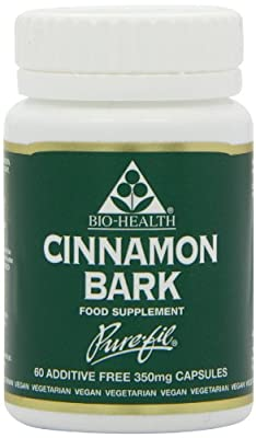 Bio-Health 350mg Cinnamon Bark Powdered - Pack of 60 Capsules from Queenswood Natural Foods Ltd