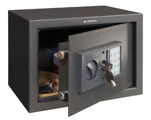 Arregui T25EB - Caja fuerte de sobreponer electrónica, 17L, 350x250x250 mm, Gris...