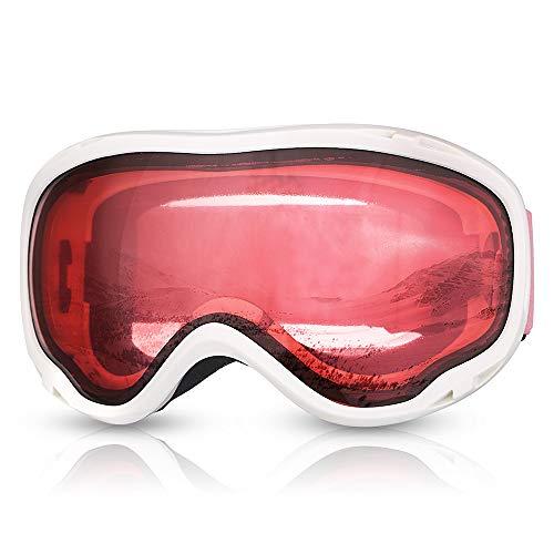 Qnlly Skibrille Brille Frauen Schnee Sport Skifahren Brillen Skibrille Für Snowboard UV400 Anti-Fog Doppel Objektiv Tag Nacht Winter Mädchen Snowboarden -