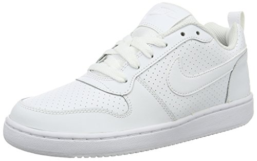 Nike Wmns Court Borough Low, Chaussures de Sport-Basketball Femme Blanco (Blanco (white/white-white))