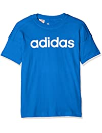 Adidas LK Lin Camisa, Unisex niños, Azul/Blanco, 128-7/